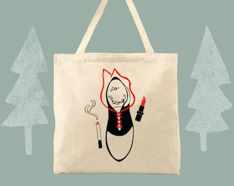 so dreamy Audrey Horne twin peaks themed cotton canvas tote bag