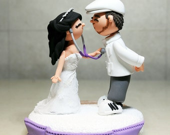 Handmade custom wedding cake toppers and by TheRosemarryToppers