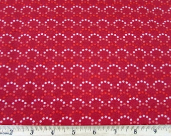 Soho Dots Tones of Red White Fabric From Quilting Treasures