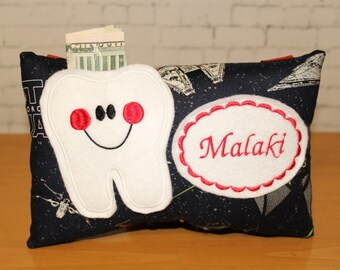Tooth Fairy Pillow - Personalized Tooth Pillow - Star Wars Tooth Pillow - Boys Tooth Pillow - Star Wars - Personalized Pillow