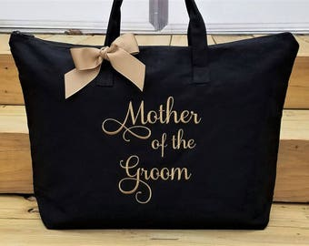 Mother of the Groom Tote Bag Mother of the Bride Tote Bag Personalized Wedding Tote Bags MOB MOG Monogrammed Gifts