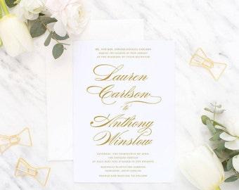 Printable Wedding Invitation Suite / Wedding Invite Set - The Lauren Suite