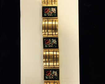 Antique 8 Panels Micro Mosaic Bracelet