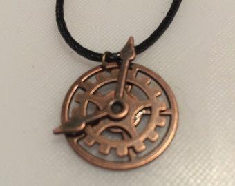 Clockwork steampunk vintage charm necklace handmade gift item