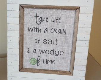 Salt and Lime burlap print