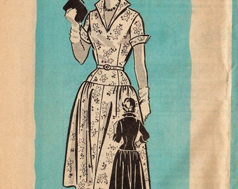 Vintage 50s Mail Order Sewing Pattern / Marian Martin 9257 / Dress / Bust 36