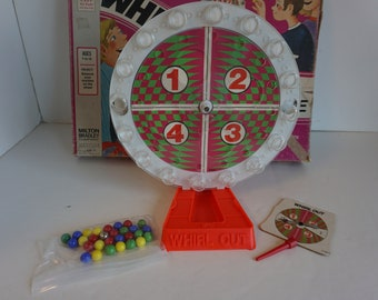 Whirl Out Marble Balancing Game by Milton Bradley 1971  (1552)
