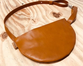 Fannypack - cognac leather