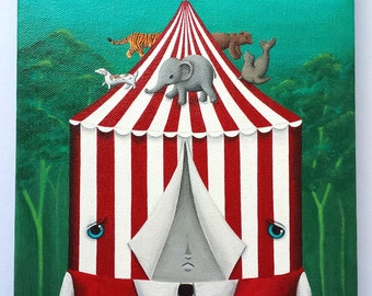The Circus In My Head Original Painting