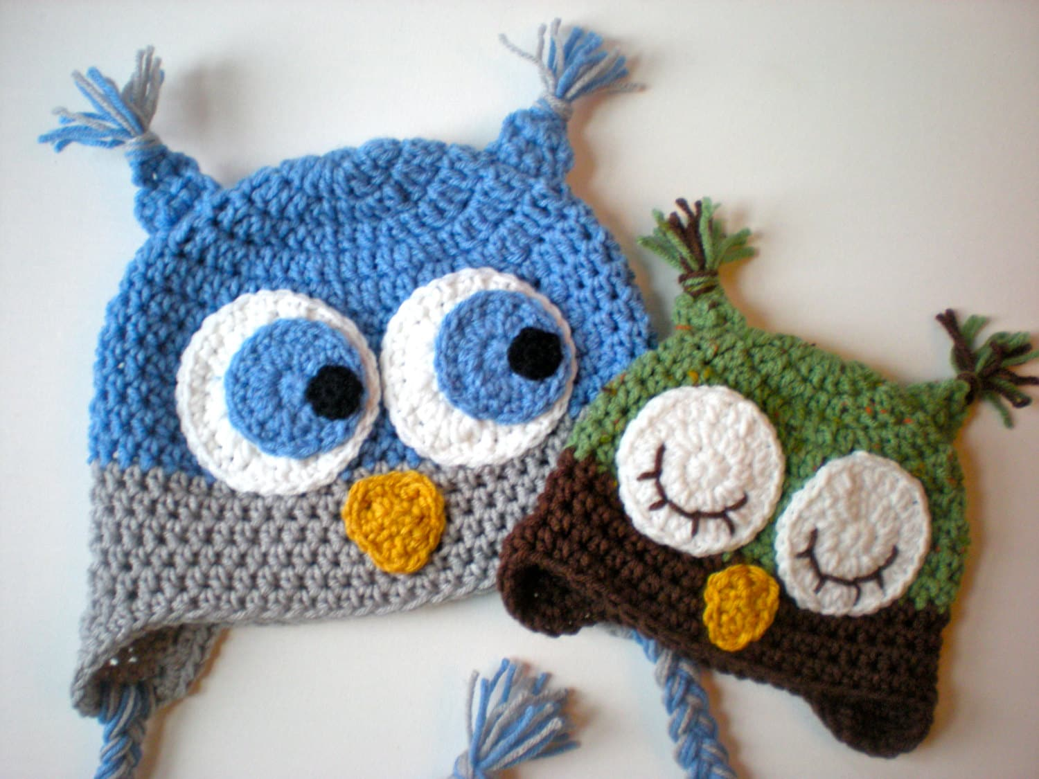 PATTERN: Owl Hat, size newborn to adult, baby kid animal hat, easy ...