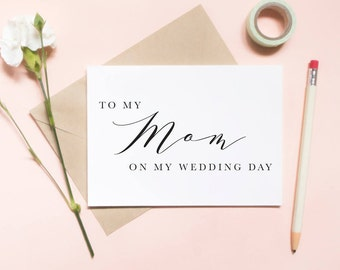 To my mom on my wedding day card, to my mom card, to my mother card, wedding day card / SKU: LNWD03