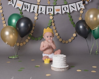 WILD ONE BANNER / 1st birthday boy / Where the wild things are / Wild One Birthday / Wild one birthday boy / 1st birthday banner / Banner