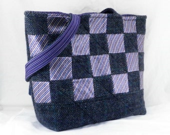 Handmade Tweed Purse, Felted Wool Bag, Upcycled Handbag, Shoulder Bag