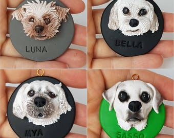 Pet Memorial Ornament, Pet Lovers Gift, Christmas Ornament, Dog Lovers Gift, Miniature Pet Replicas, Custom Pet Gift, Golodsy Ornament