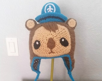 Crochet Shellington the Sea Otter Octonaut Hat - Cartoon Costume Hat - The Octonauts - Cosplay Crochet Hat