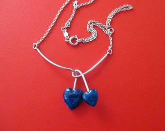 Designer Signed Hearts Entwined Necklace - Sarah Coventry