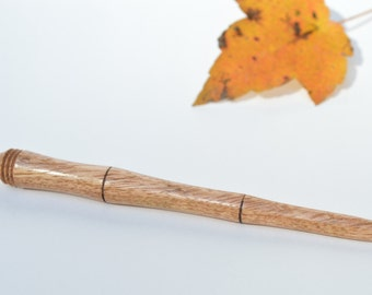 Handcrafted Wooden Shawl Pin ~ Tropical Mango Wood ~ Crochet, Knitting Accessories