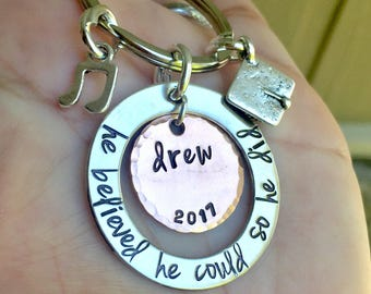 Graduation Gift, He Believed She Could So he Did, graduation 2018, Personalized Graduation Gifts, natashaaloha