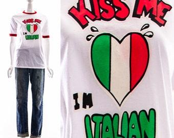Baciami Io Sono Italiano T-shirt q3z0No9c