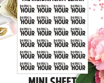 Power Hour - Cleaning - Productive - House Clean - Decluttering - Planner Stickers