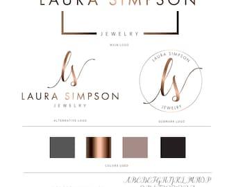 Logo Branding Kit, Mini branding kit, Logo design, Premade logo, Watermark logo, Photography Logo, Logo, Branding Package, Bronze Logo,