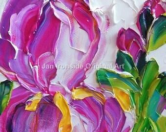 Original art, iris oil painting, impasto painting, original painting, fine art, ooak