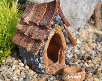 Shingletown Dog House, Bowl for Miniature Garden, Fairy Garden