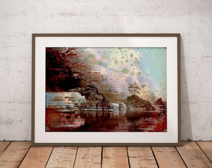 Waterworld XVII by Sven Pfrommer - Artwork is ready to hang with a solid wooden frame