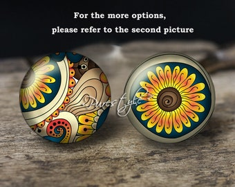 Paisley,Handmade Photo Glass Cabochon,Round cabochons,Cabs Cabochons,Image Glass Cabochon,glass cabochons,Dome cabochons
