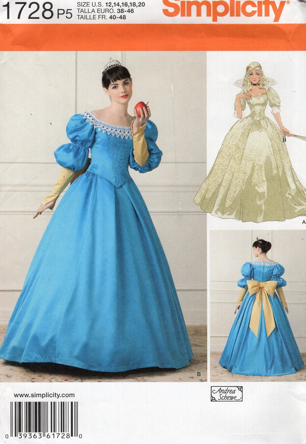 FREE US SHIP Sewing Pattern Simplicity 1728 Misses Costume Gown ...