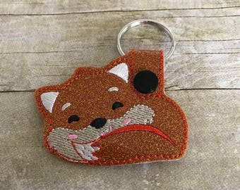 Fox keychain, Fox key fob, Fox gifts, Gifts for her, Gifts for women, Stocking stuffer, Fox purse charm, Fox lover, Foxes key chain