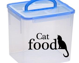 Cat Food Decal, cat food label, cat food sticker, vinyl label, pet food decal