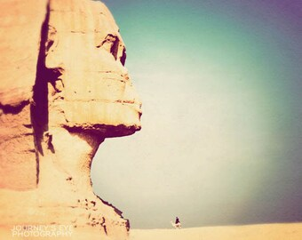 Egyptian art, travel photography, Sphinx, desert, exotic, ancient Egypt, archaeology, Egypt picture - Father of Terror