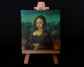 Mini Mona Lisa Painting