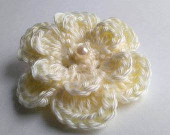 Crochet Flower Barrette / Girl's Crochet Hair Barrette/ Hair Accessories / Flower Hair Clip / Girl's Hair Clip/Crochet Flower Clip