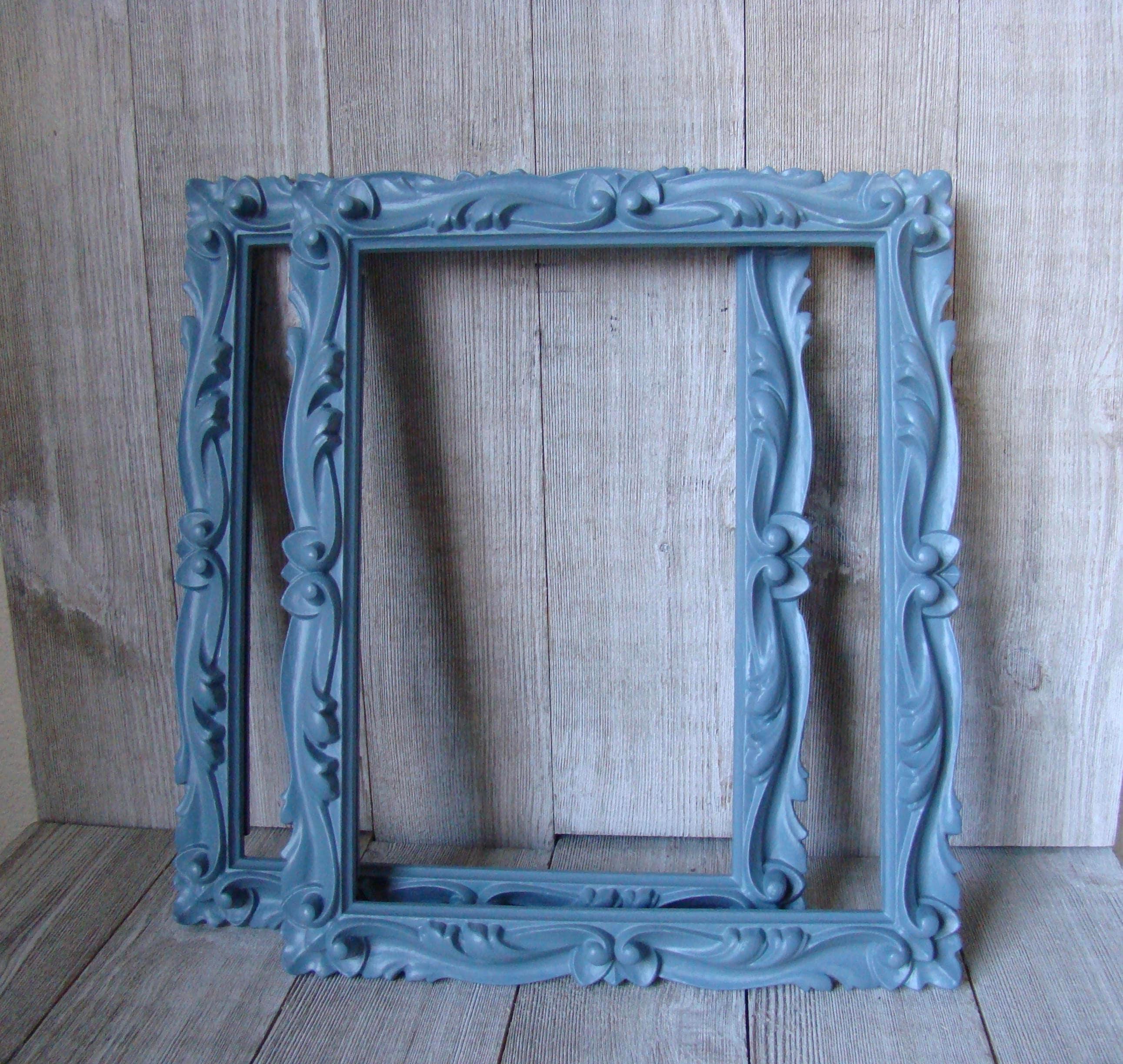 8x10 Vintage Frames, 8X10 Frames, 8 X 10 Blue Frames Unique Frames ...