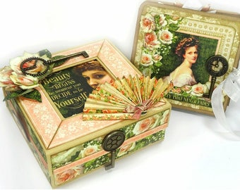 G45 - Portrait of a Lady - Mixed Media Box & Nesting Photo Album Class Kit