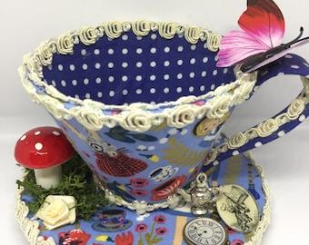 Alice In Wonderland Inspired Teacup Fascinator