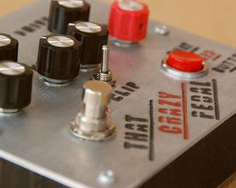 Feedbacker Fuzz! Analogwise That Crazy Pedal -  boutique guitar pedal. Glitchy 8 bit fuzz / overdrive. Natural feedback on demand!