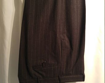 Beautiful Ralph Lauren Blue Label Chalk Stripe Slacks (34/32)