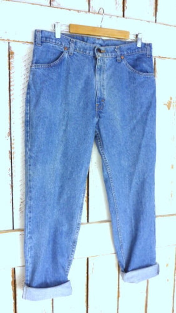 waisted x denim orange fly washed 30 relaxed 506 zipper tab fit Levis jeans tapered jeans blue leg 38 blue stone loose high OqgvRxw