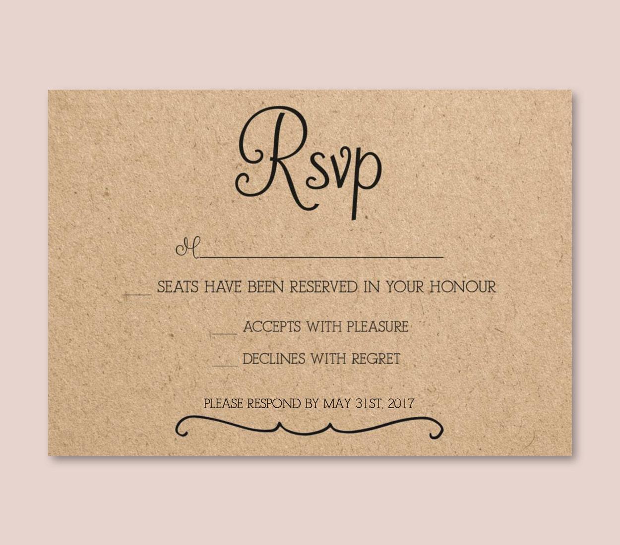 Boda Vintage rsvp Tarjeta plantilla word o pages invitación