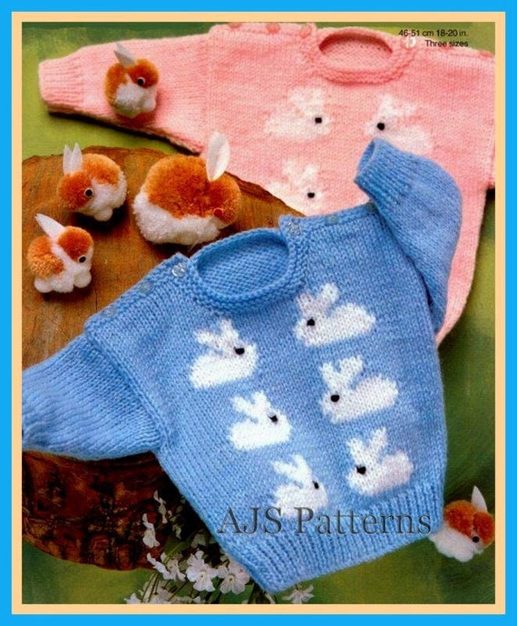 Pdf Knitting Pattern For Baby Boys And Girls Jumper With A