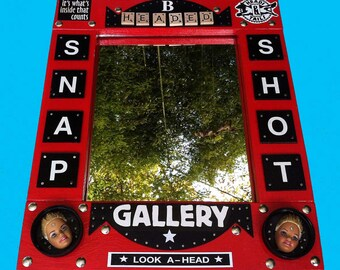 RECYCLED MIRROR ART Piece, Recycled assemblage, Snap Shot