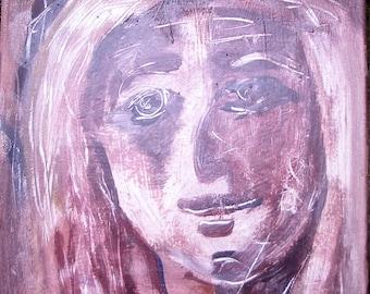 """Painting. Acrylic paints. Portrait. """"Madonna of Autumn 3"""""""