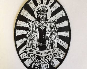 What would Lemmy Do Woven Patch by Seven 13 Productions Motorhead Ace of Spades Iron Horse Kilmister War Pig Killed by Death