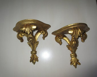 ITALY GOLD LEAF Wall Shelves