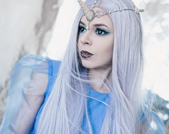 Unicorn Horn Headpiece Headdress Circlet, Fantasy Pegasus Hairband