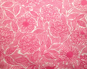 1960s Pretty Pink Floral Fabric