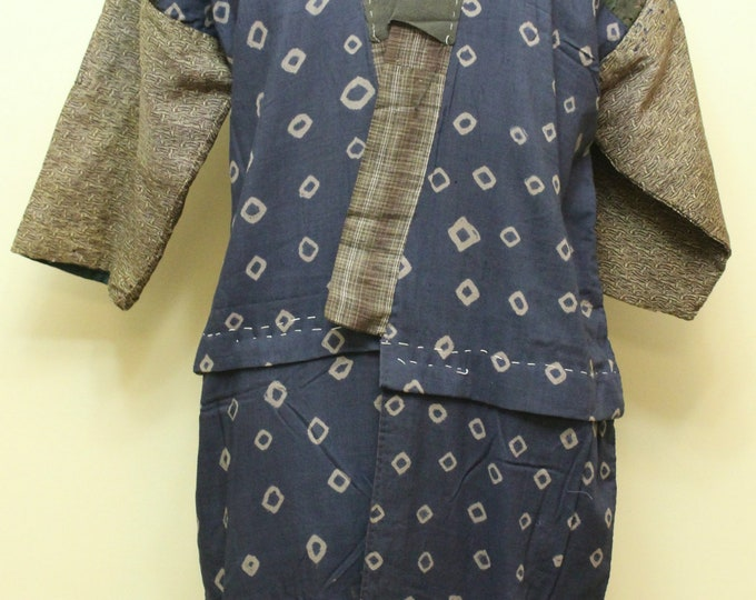 Japanese Boro Folk Wear. Antique Noragi Peasant Juban (Ref: 1892)